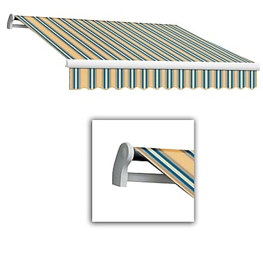 Awntech® Maui® LX Left Motor Retractable Awning, 12' x 10', Tan/Teal