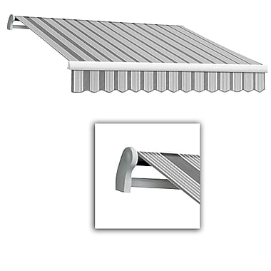 Awntech® Maui® LX Manual Retractable Awning, 8' x 7', Gun/Gray/White