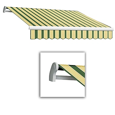 Awntech® Maui® LX Right Motor Retractable Awning, 10' x 8', Forest/Tan