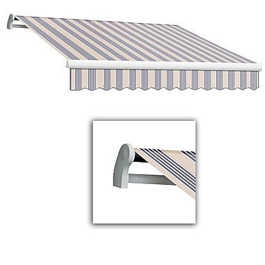 Awntech® Maui® LX Manual Retractable Awning, 10' x 8', Dusty Blue Multi