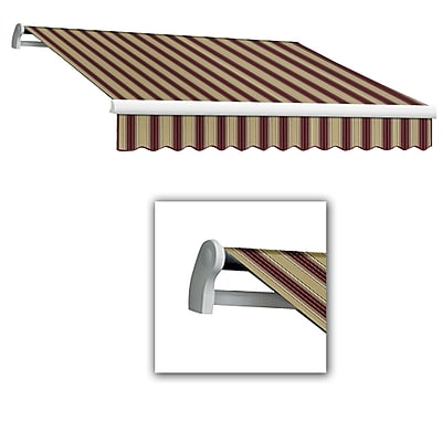 Awntech® Maui® LX Right Motor Retractable Awning, 10' x 8', Burgundy/Tan Multi