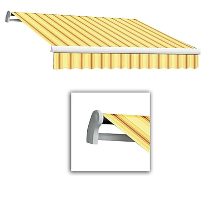 Awntech® Maui® LX Right Motor Retractable Awning, 8' x 7', Light Yellow/Terra