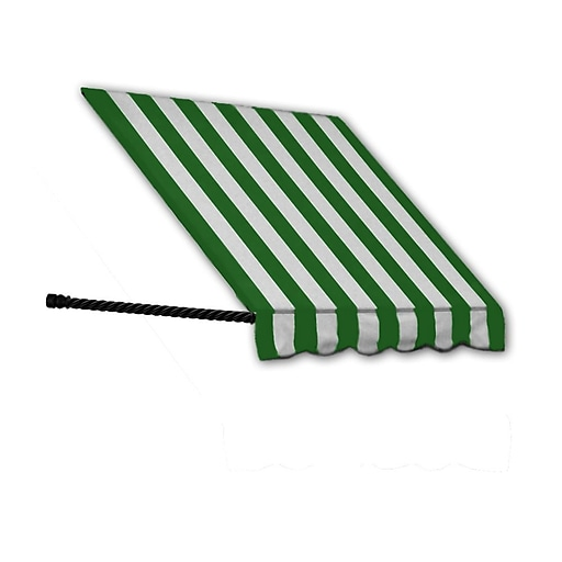"""Awntech® 18' Santa Fe® Window/Entry Awning, 24"""" x 12"""", Forest/White"""