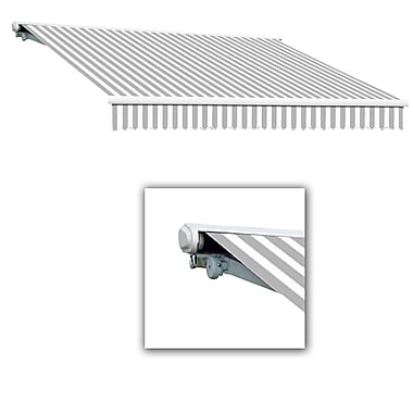 Awntech® Galveston® Left Motor Retractable Awning, 8' x 7', Gray/White
