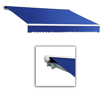 Awntech® Galveston® Left Motor Retractable Awning, 8' x 7', Bright Blue