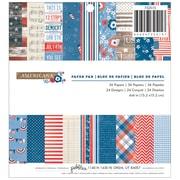 "American Crafts™ 6"" x 6"" Pebbles Paper Pad, Americana"