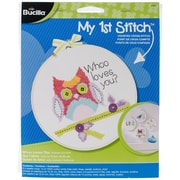 "Bucilla® My 1st Stitch Whoo Loves You 6"" Mini Counted Cross Stitch Kit"