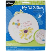 """Bucilla® My 1st Stitch You're Sweet 6"""" Mini Counted Cross Stitch Kit"""