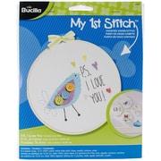 "Bucilla® My 1st Stitch P.S. I Love You 6"" Mini Counted Cross Stitch Kit"