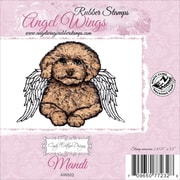 """Cindy Echtinaw Designs™ Angel Wings 3"""" x 3 1/2"""" Mounted Cling Stamp, Mandi"""