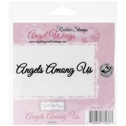 """Cindy Echtinaw Designs™ Angel Wings 4"""" x 3/4"""" Mounted Cling Stamp, Angels Among Us"""