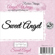 """Cindy Echtinaw Designs™ Angel Wings 3 1/2"""" x 1"""" Mounted Cling Stamp, Sweet Angel"""