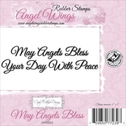 """Cindy Echtinaw Designs™ Angel Wings 4"""" x 1"""" Mounted Cling Stamp, May Angels Bless"""