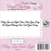 """Cindy Echtinaw Designs™ Angel Wings 4"""" x 5"""" Mounted Cling Stamp, May Love and Light"""