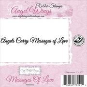 """Cindy Echtinaw Designs™ Angel Wings 4"""" x 3/8"""" Mounted Cling Stamp, Messages Of Love"""