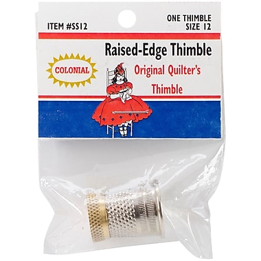 Colonial Needle Size 12 Raised-Edge Thimble