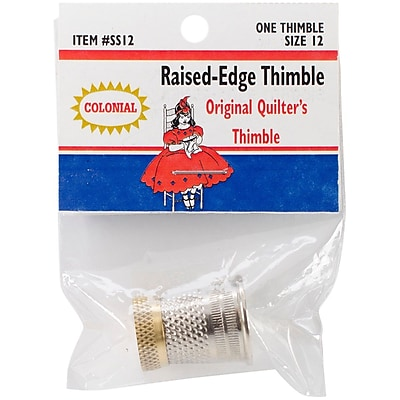 Colonial Needle Size 12 Raised-Edge Thimble