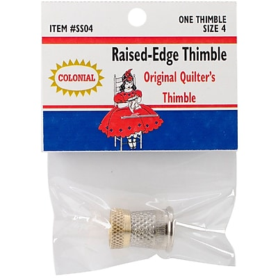 Colonial Needle Size 4 Raised-Edge Thimble