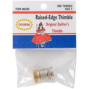 Colonial Needle Size 5 Raised-Edge Thimble