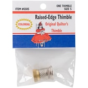 Colonial Needle Size 5 Raised-Edge Thimble