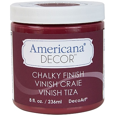 Deco Art Americana Decor Non-Toxic 8 oz. Chalky Finish Paint, Rouge (ADC-07)