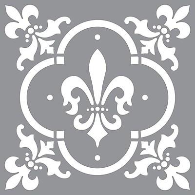 Deco Art® Americana® Decor™ Stencil, Fleur De Lis Tile