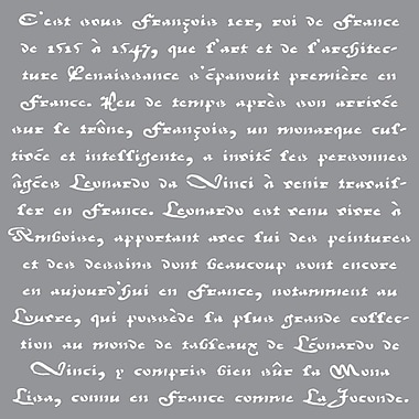Deco Art® Americana® Decor™ Stencil, Old French Script