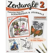 "Design Originals ""Zentangle 2: Featuring Ideas for Scrapbooks & Jour.."" Book, 10.8"" x 8.5"" x 0.1"""