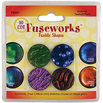 Diamond Tech Crafts Fuseworks™ Dichroic Texture Pack, 1.12 oz.