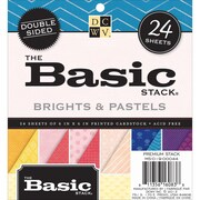 "Diecuts With A View® 6"" x 6"" Double-Sided Printed Cardstock Paper Stack, Basic Bright and Pastel"