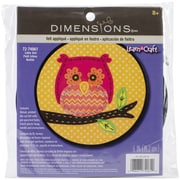"Dimensions Learn-A-Craft Little Owl Felt Applique Kit, 6"" Round"