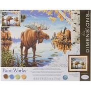 "Dimensions Paint By Number Kit, 14"" x 11"" x 1.4"", Majestic Moose"