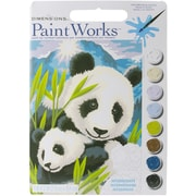 "Dimensions Paint By Number Kit, 13 1/2"" x 9 1/2"" x 1"", Panda And Cub"