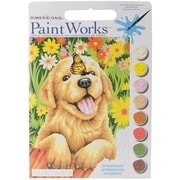 "Dimensions Paint By Number Kit, 13 1/2"" x 9 1/2"" x 1"", Puppy Gardener"