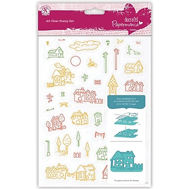 Docrafts™ Papermania A5 Clear Stamps, Village