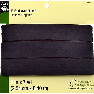 Dritz™ Fold-Over Elastic, Black