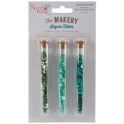 "Hazel & Ruby® The Makery Sequin Tube, 1/4"", Green with Envy"