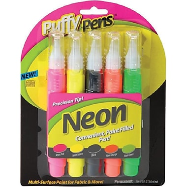 I Love To Create® Puffy Paint™ Neon Pen Set, Assorted Color