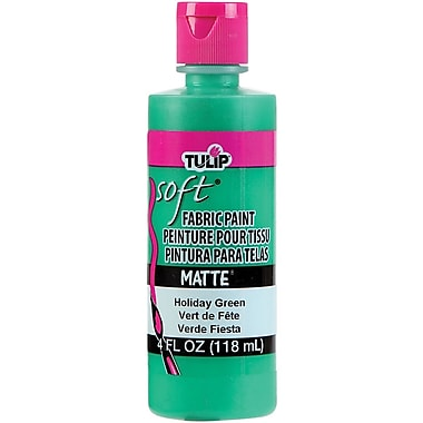 I Love To Create Tulip Soft 4 oz. Fabric Paint, Holiday Green Matte (TSFP-20411)