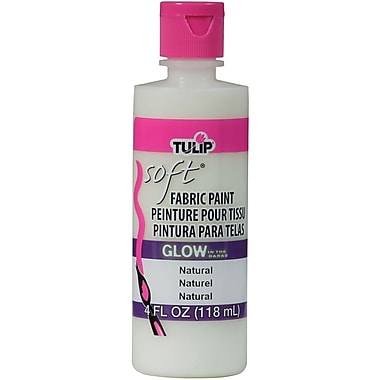 I Love To Create Tulip Soft 4 oz. Fabric Paint, Glow Natural (TSFP-29098)