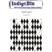 "Indigoblu 4"" x 4"" A6 Red Rubber Cling Mounted Stamp, Harlequin"