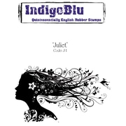 "Indigoblu 5"" x 3"" A6 Red Rubber Cling Mounted Stamp, Juliet"