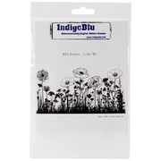 "Indigoblu 7"" x 4 3/4"" A6 Red Rubber Cling Mounted Stamp, Wild Flowers"