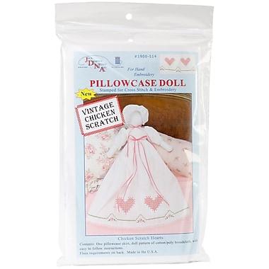 Jack Dempsey Stamped White Pillowcase Doll Kit