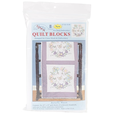Jack Dempsey Stamped White Quilt Blocks, 18