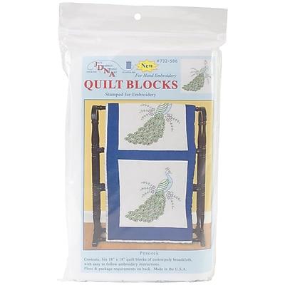 Jack Dempsey Stamped White Quilt Blocks, 18