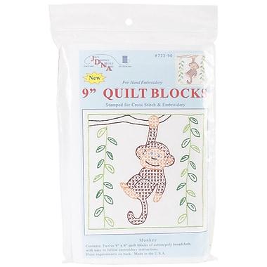 Jack Dempsey Stamped White Quilt Blocks, 9