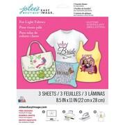 """Jolees® Easy Image® 11"""" x 8 1/2"""" Transfer Paper For Light Fabric, Glitter"""