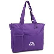 "K1C2 13"" x 15"" x 4"" Crochet Happy Bright Bag, Purple"