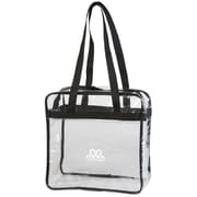 "K1C2 12"" x 12"" x 6"" Crochet Happy Tote, Clear"